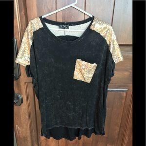 Tops - Gold sequin POL shirt